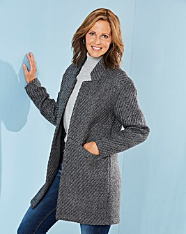 Wool Look Blazer Coat