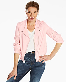 Plain Lightweight Biker Jacket