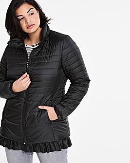 Frill Hem Padded Jacket