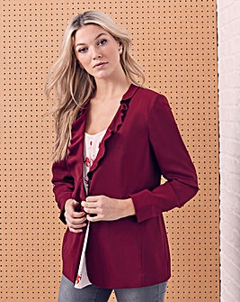 Frill Placket Statement Blazer