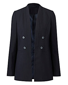 Double Breasted Edge to Edge Blazer