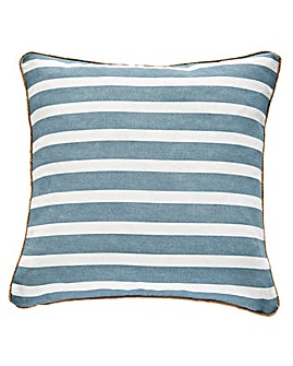Harbour Stripe Cushion with Rope Trim