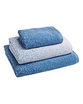 Kempton Ombre Towels Blue