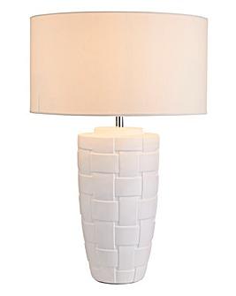 Delphine Ceramic Woven Effect Table Lamp