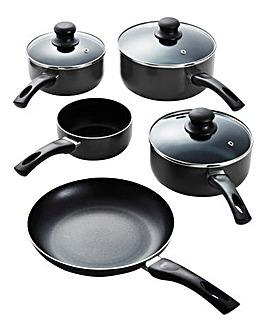 Aluminium Non-stick 5pc Panset - Black