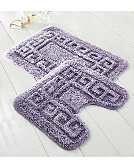 Greek Key Bath Mat 2pc Set