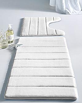 Microfibre Memory Foam Pedestal Mat