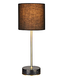 Black Marble & Brass Table Lamp