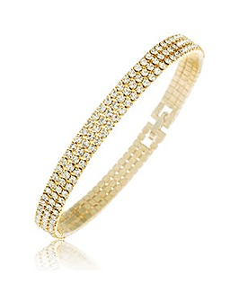 Crystal Glitz Gold Plated Bracelet