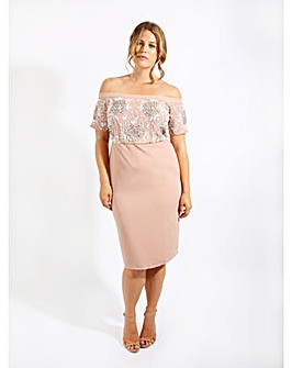 Lovedrobe Luxe Embellished Pencil Dress