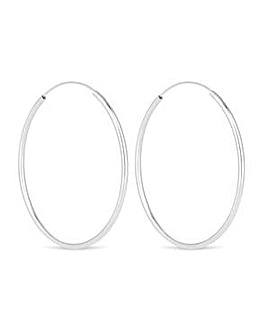 Simply Silver large hoop earring