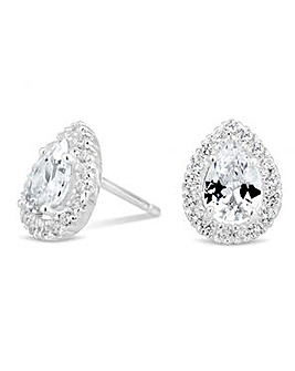 Simply Silver cluster stud earring