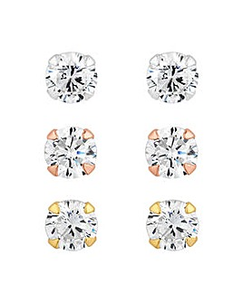 Simply Silver stud earring pack