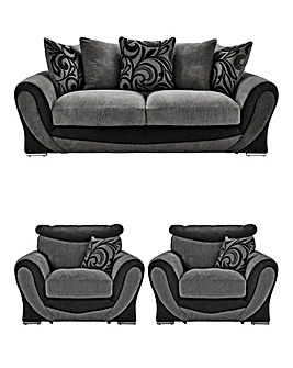 Renata Three Seater plus Two Chairs