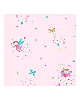 Fairy Dust Pink Wallpaper