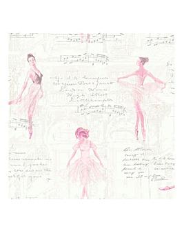 Pirouette Pink Wallpaper