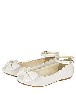 Monsoon Scalloped Ballerina Shoes
