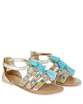 Monsoon Tassel Beaded Sandals