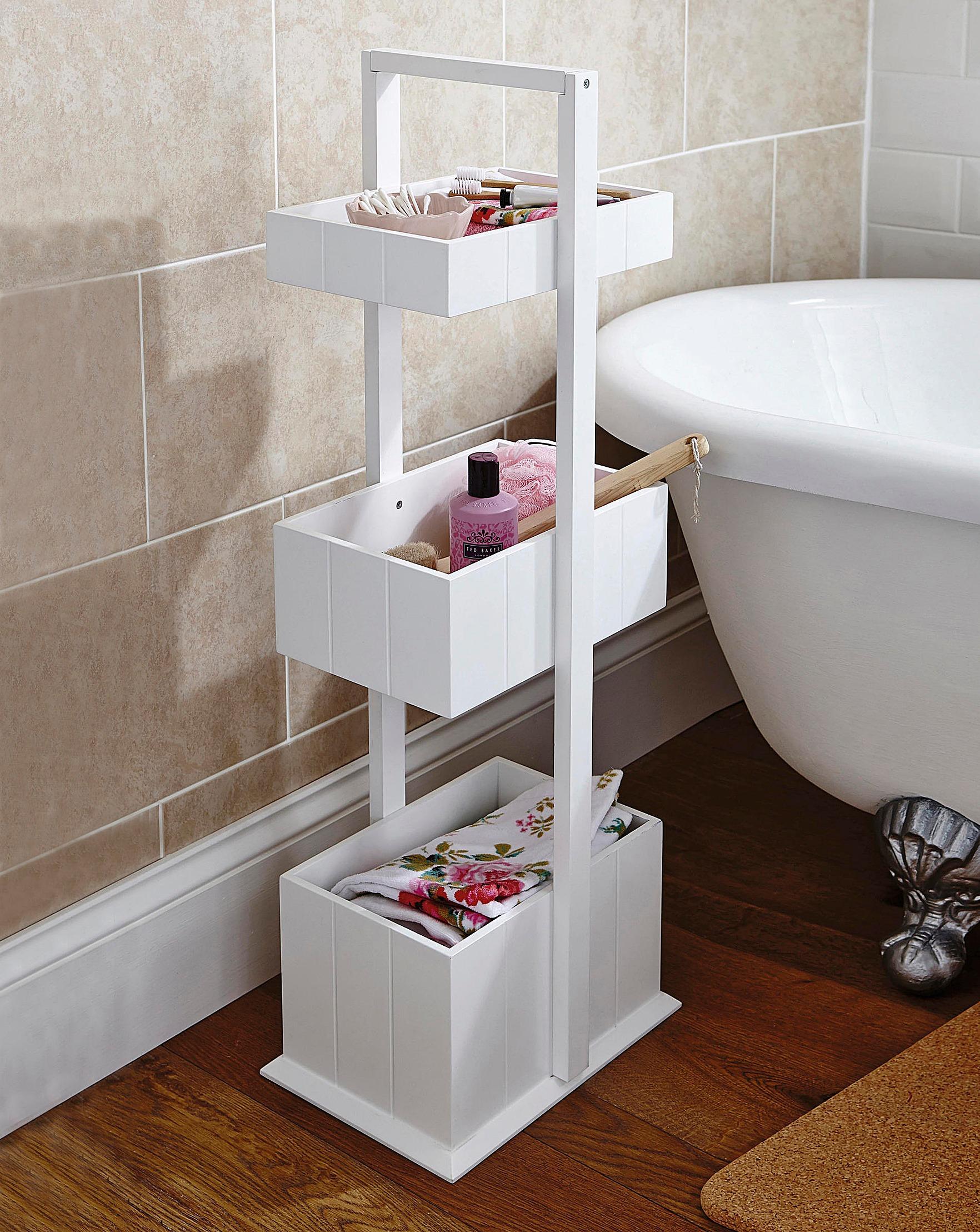 3 Tier Wooden Bathroom Caddy - Techieblogie.info