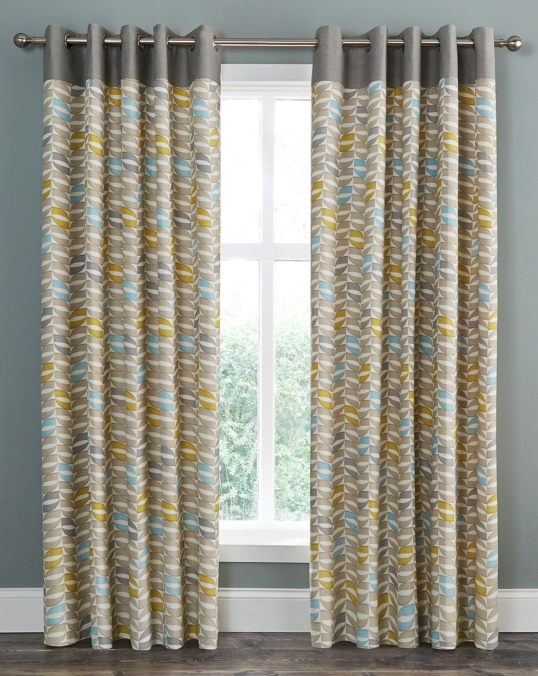 grey sentinel blue red lined fully with eyelet curtains printed kiera itm design floral