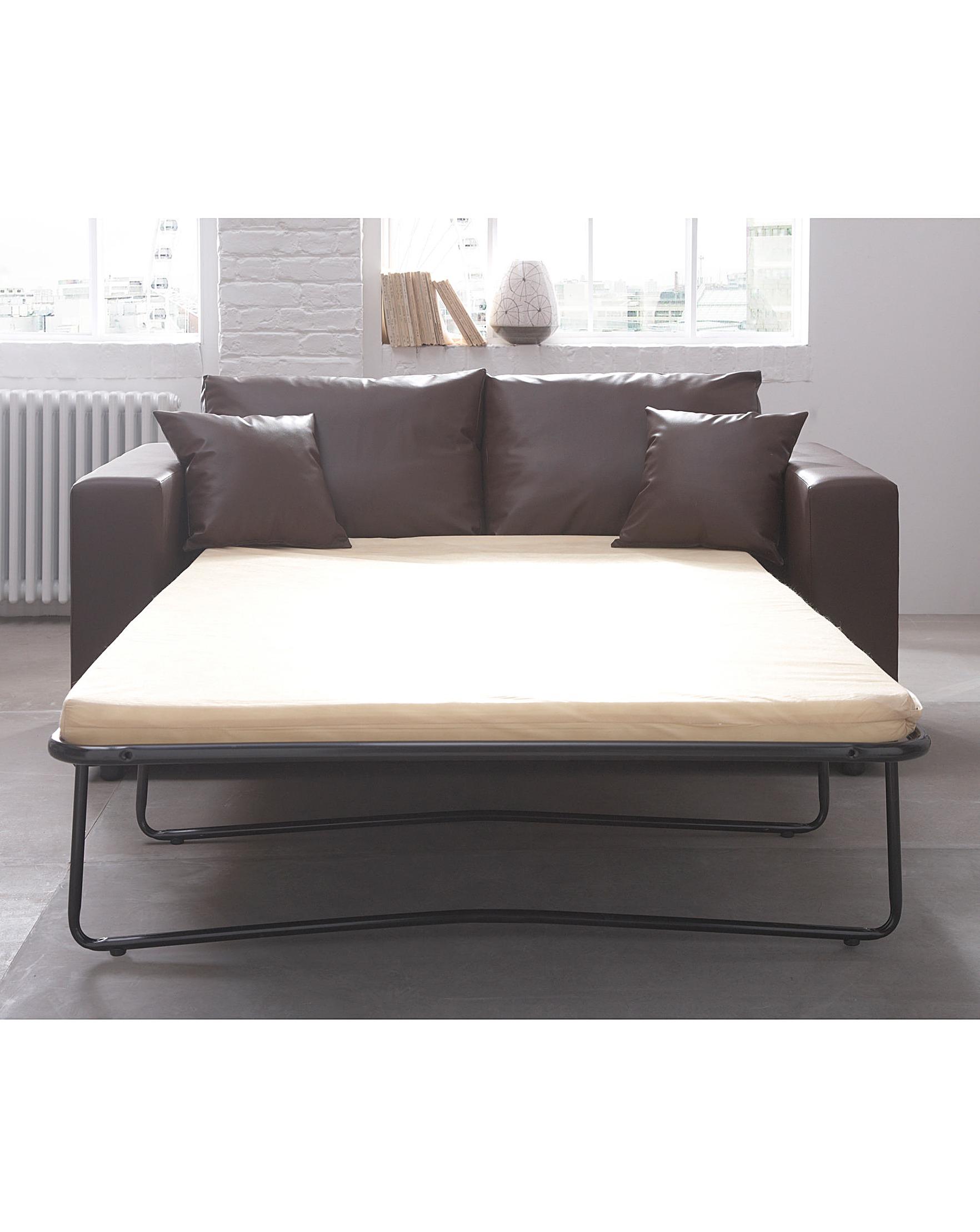 Sofa Bed Metal Modern Three Seater Silver Metal Futon Sofa