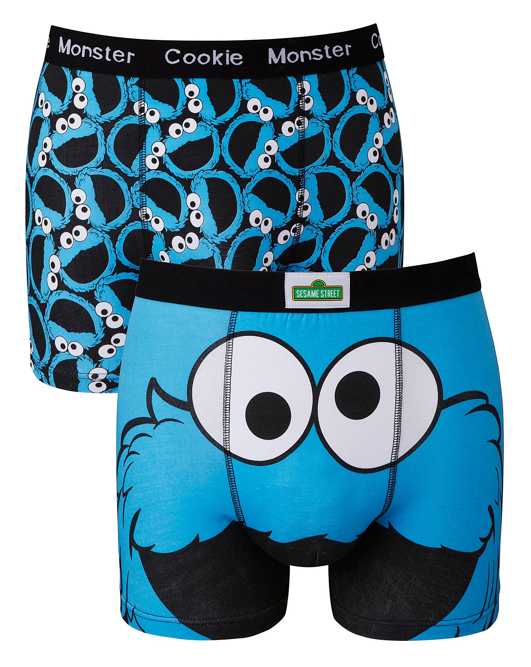 Cookie Monster Blue Pack 2 Boxers