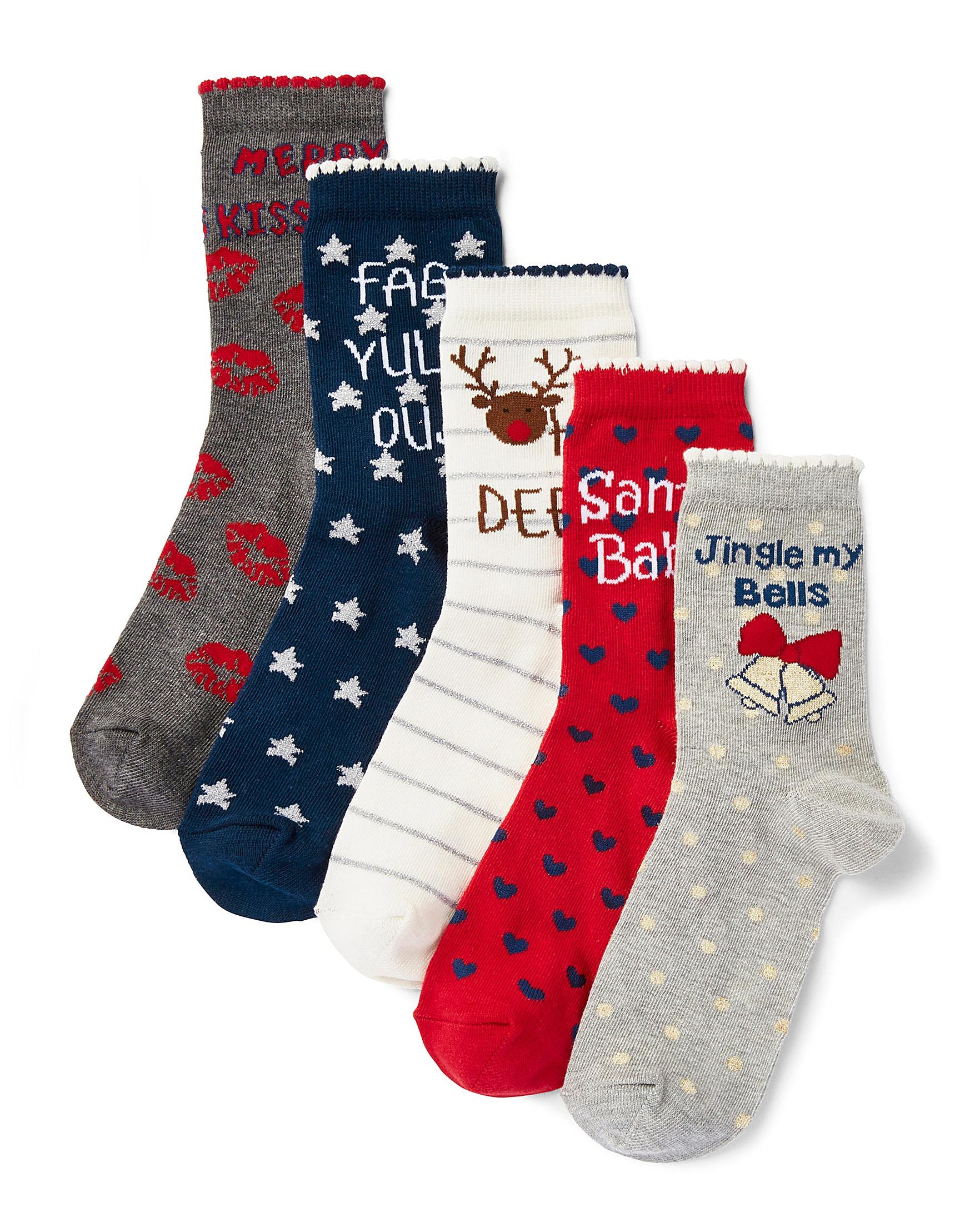 5 Pack Christmas Spirit Ankle Socks
