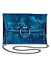 Sophie Teal Ring Detail Clutch Bag